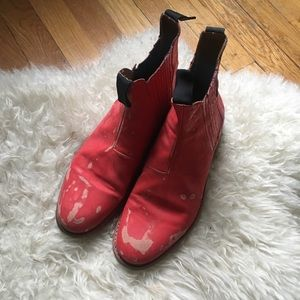 Daryl K RED Chelsea Boots